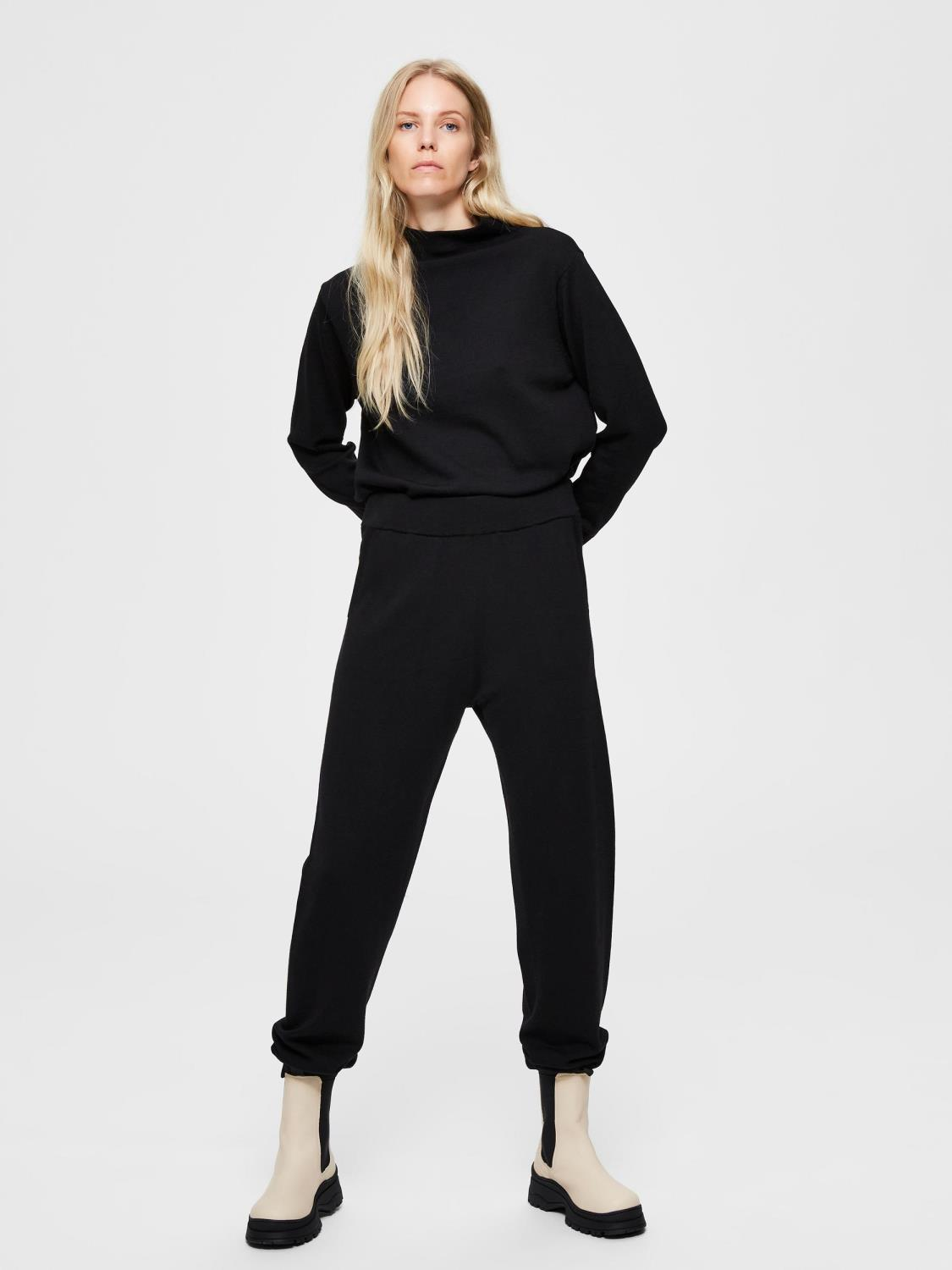 SLFSANDRA MW KNIT PANTS W