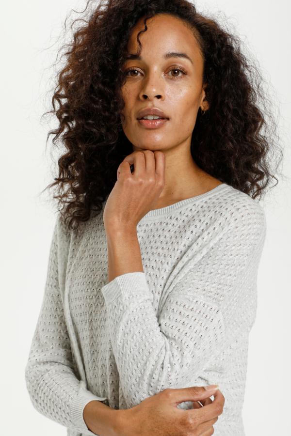 KAhally Pullover Light Grey Melange