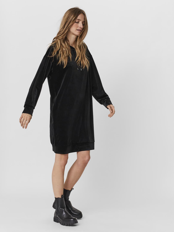 VMDANA LS HOODIE DRESS Black