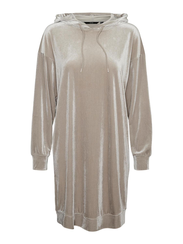 VMDANA LS HOODIE DRESS Ghost Gray