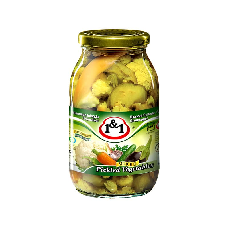 1&1 Mixed Pickled Vegetables 640g