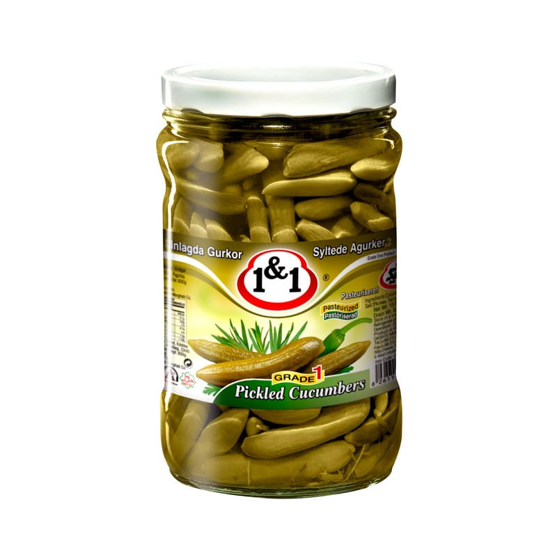 1&1 Pickled Small Cucumbers 750g