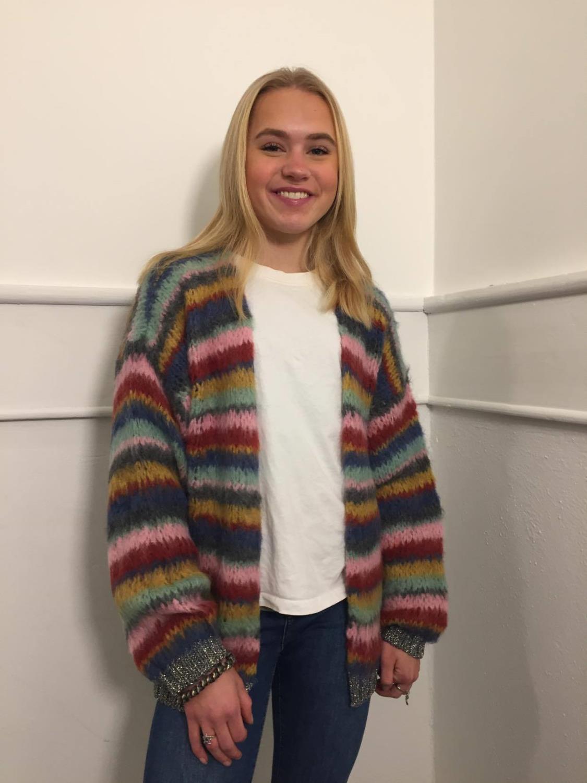 Tanja Soft Brushed striped cardigan
