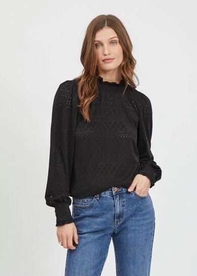 VIKATHY L/S EMBROIDERY TOP