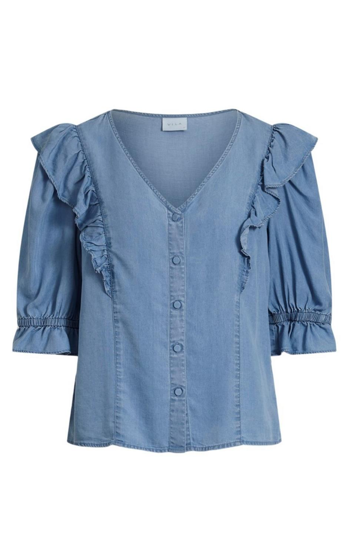 Vielaeanor Vicky S/S denim shirt