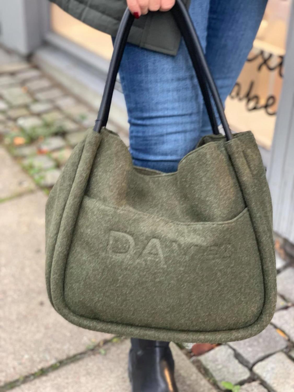 Day Woolen small shopper-Dark Olive