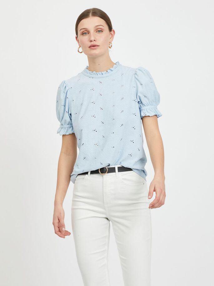 Vikiwi S/S Flounc - Cashmere Blue