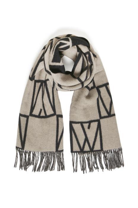 MyrtheIW Logo scarf, sandstone