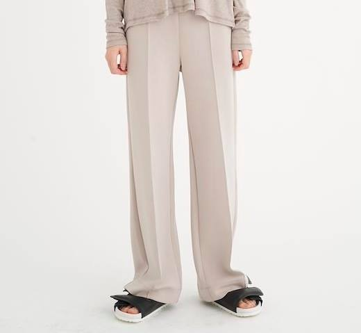 DaltonIW Wide pants - Simply Taupe