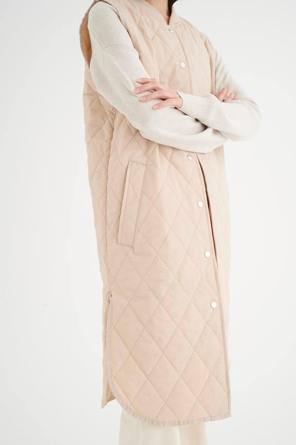 CallasIW, Quilted Vest - powder beige