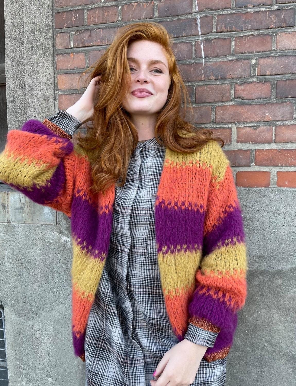 Fiella block stripe knit