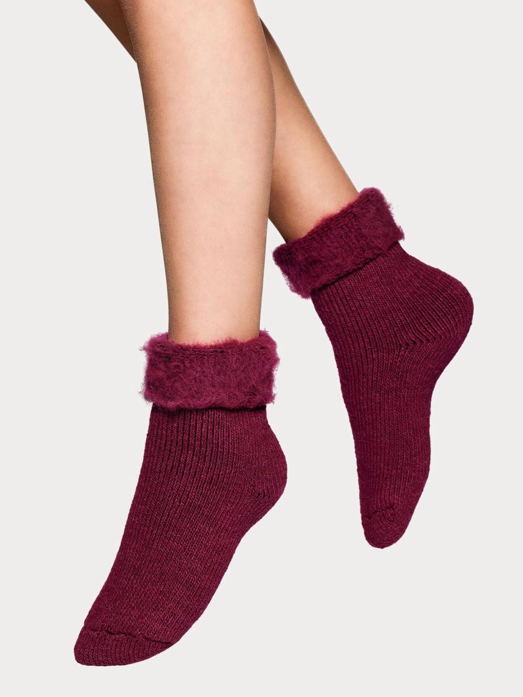 Dam ankelsocka, Softies home sock, Ruby Wine