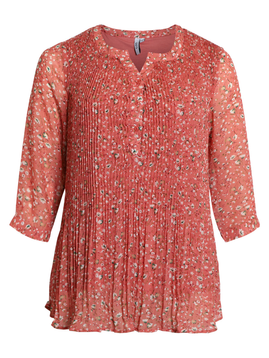 Ciso Tunic with pleats and flowers