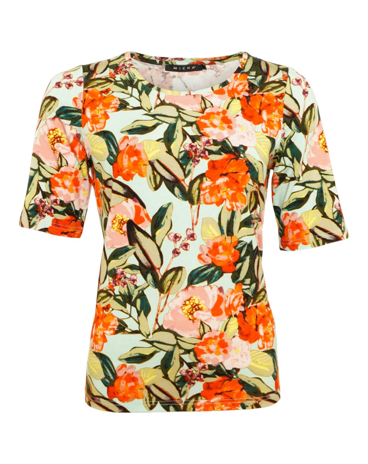 Micha Bluse m. Blomster