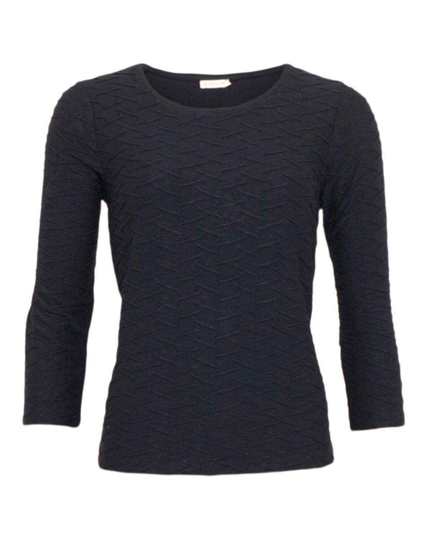 Micha T-skjorte m. Bølgemønster Svart