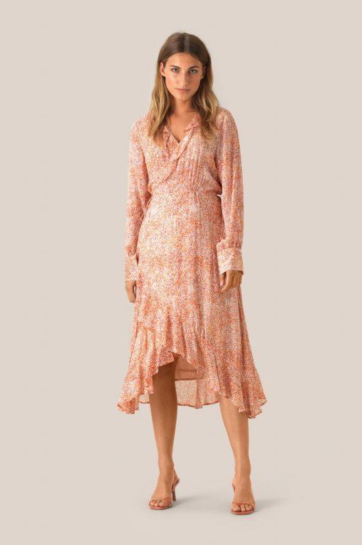 Floral wrap dress 5309