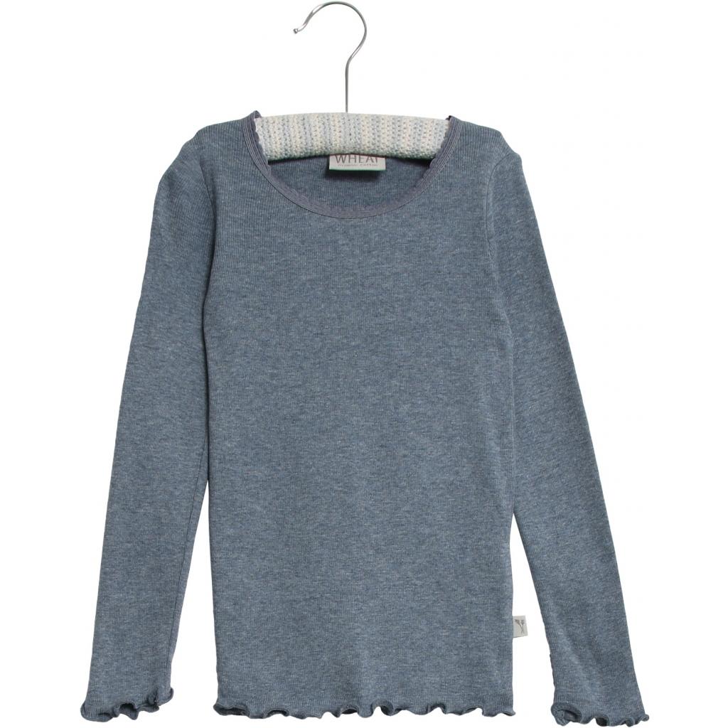 Rib T-shirt Lace L/S