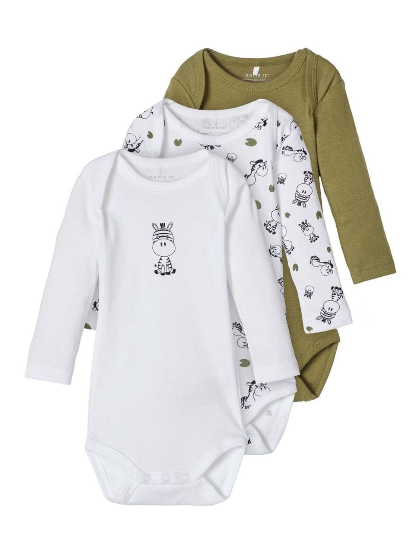 Body 3P LS Zebra Baby