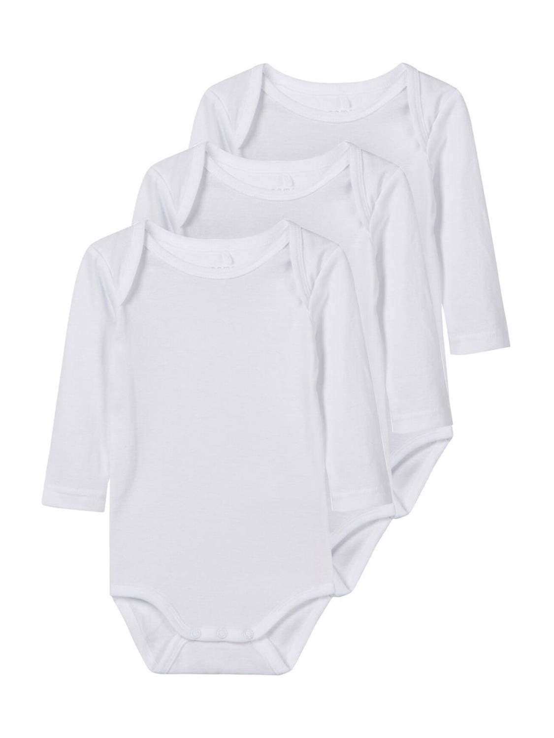 Body 3p ls Solid White Baby