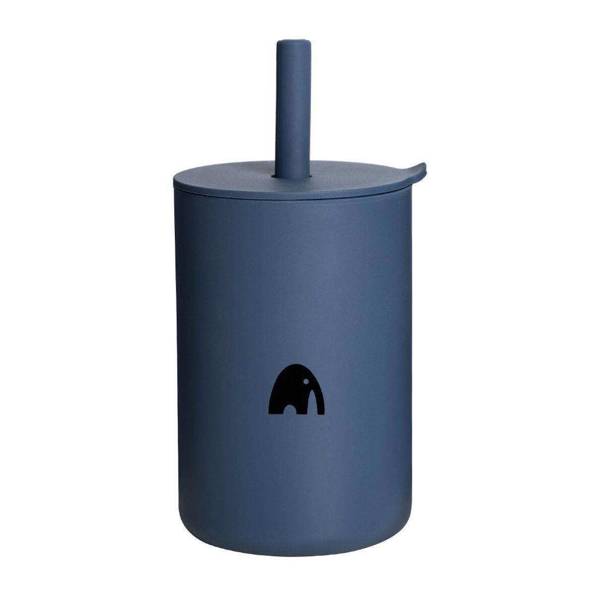 Kopp m/sugerør - Navy Blue