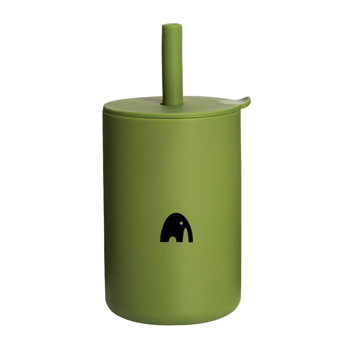 Kopp m/sugerør - Oliven