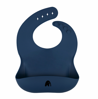 Bib Silikon - Navy Blue