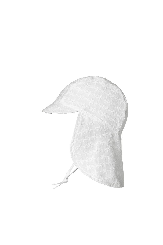 Flora Cap w/neck shade, White