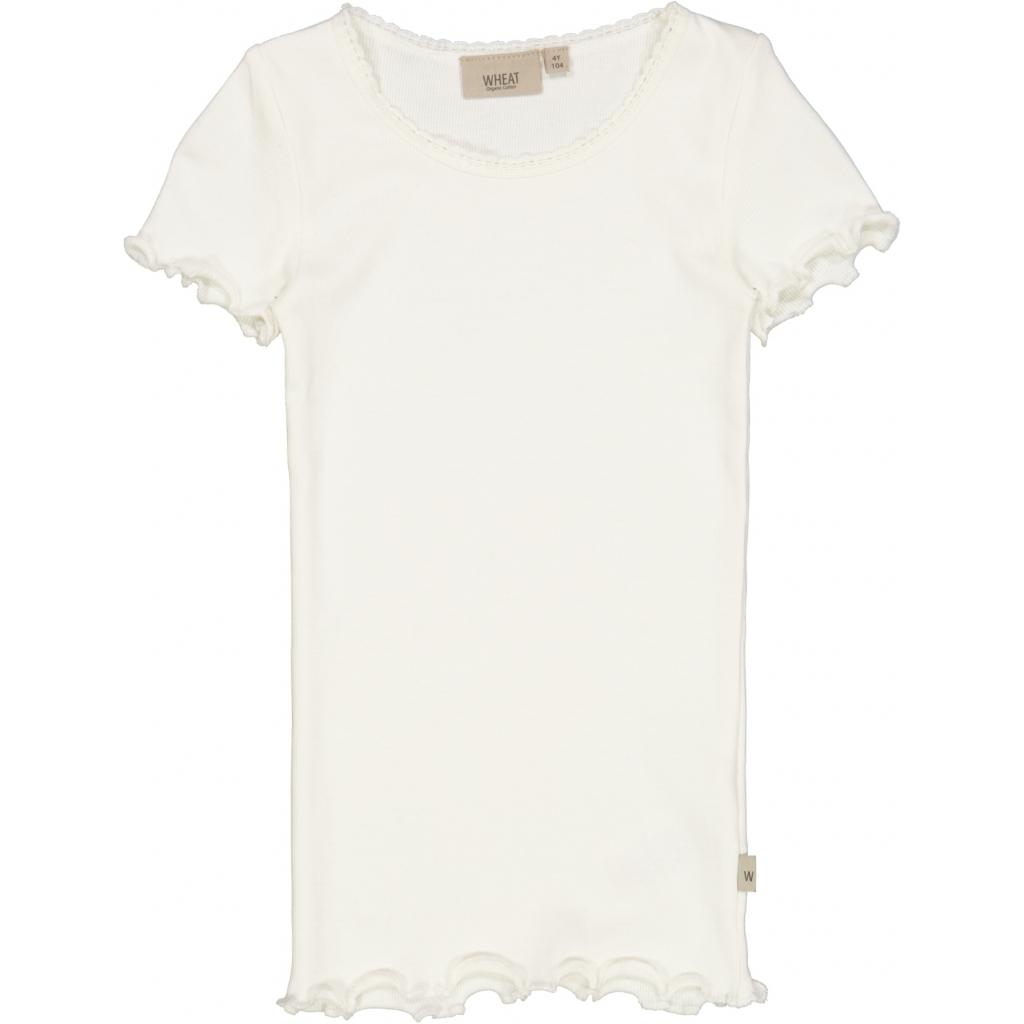 Rib T-shirt, Ivory