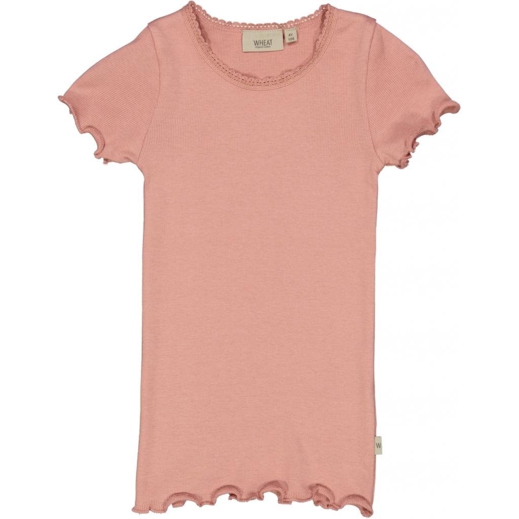 Rib T-shirt, Misty rose