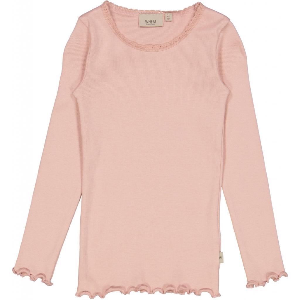 Rib T-shirt, longsleeve, Misty rose