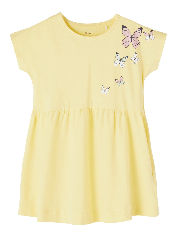 Hedviig dress, popcorn yellow