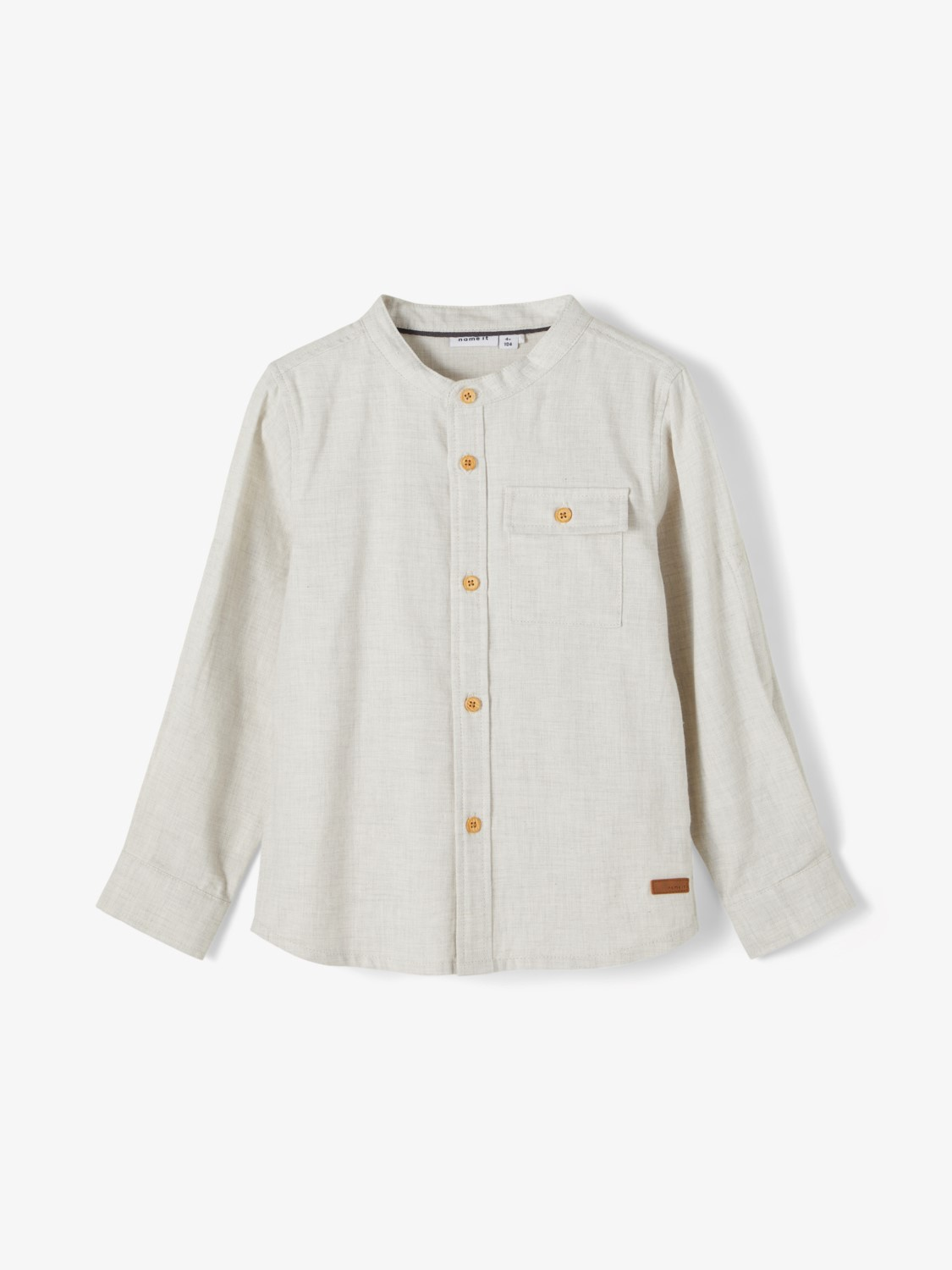 Bird LS Shirt Baby - Oatmeal