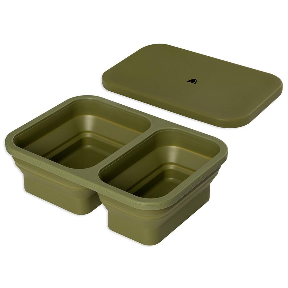 Matboks i silikon - Oliven