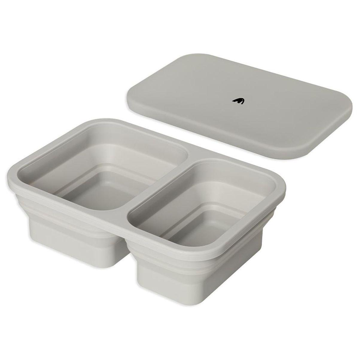 Matboks i silikon - Grey