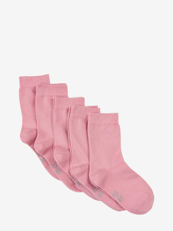 Ankle Sock, Solid 5pk - Rose