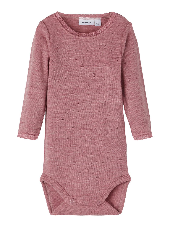 Wang wool LS Body Baby - Nostalgia Rose