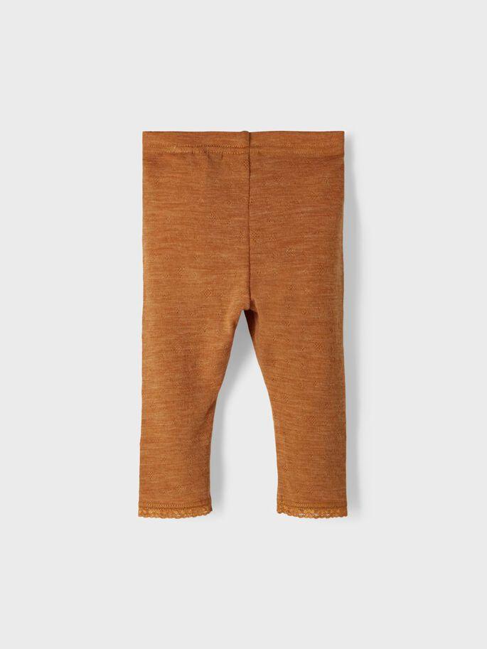 Wang Wool Legging, Baby - Brown sugar