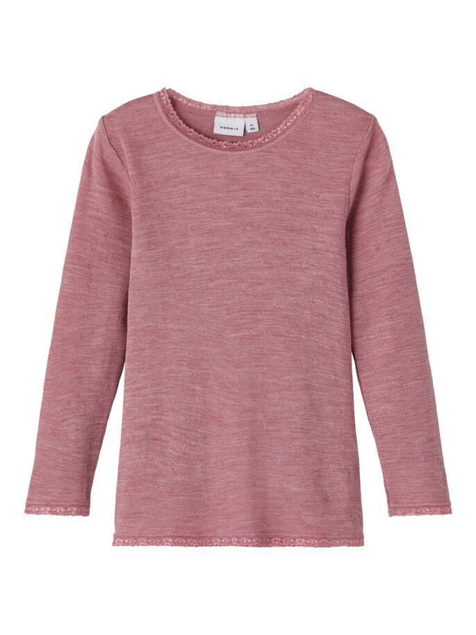 Wang Wool LS Top, Mini - Nostalgia Rose