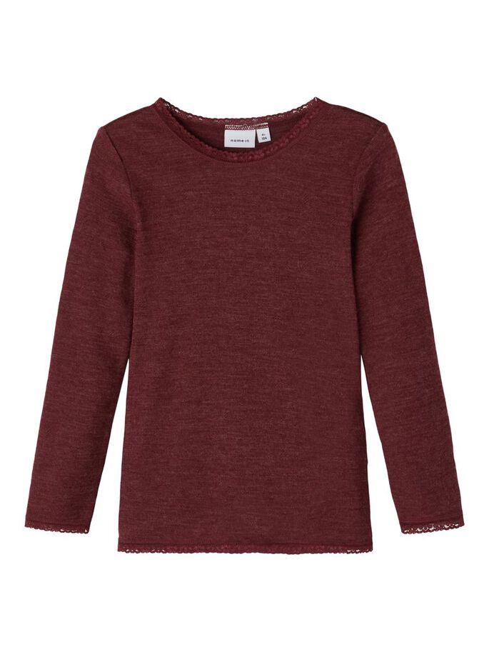 Wang Wool LS Top, Mini - Red Mahogany