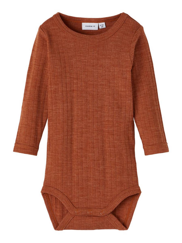 Wang Wool LS Body, Baby - Mocha Bisque