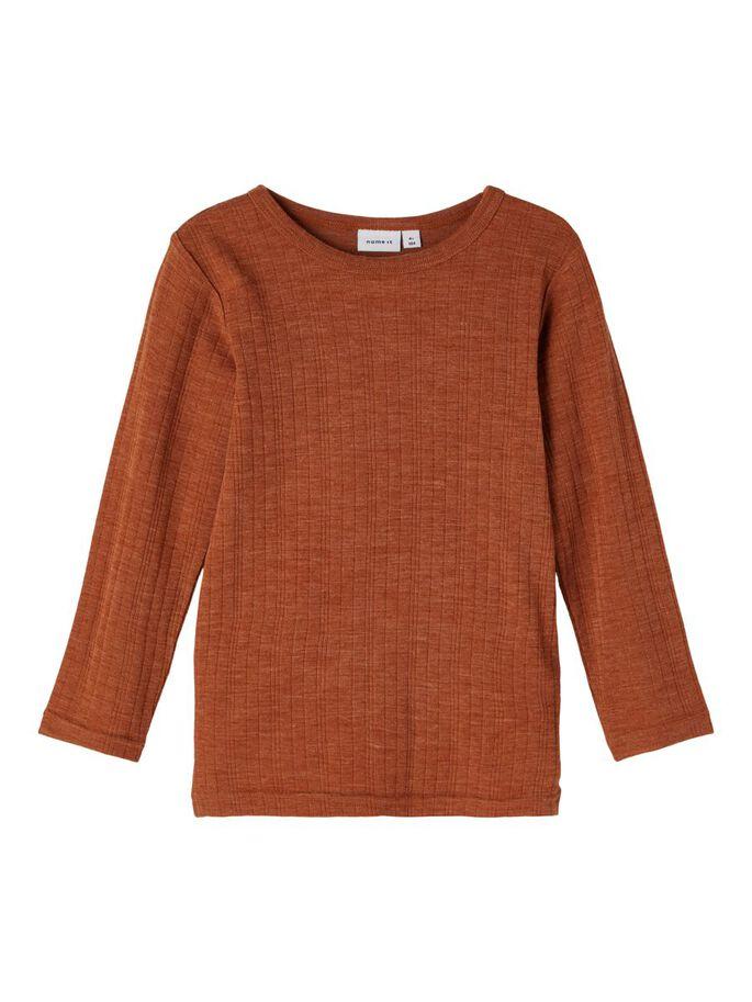 Wang Wool LS Top, Mini - Mocha Bisque