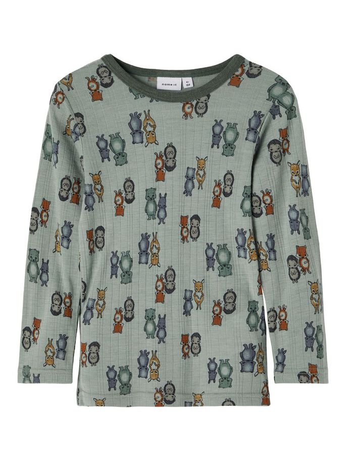 Wang Wool LS Top, Mini - Lily Pad/AOP