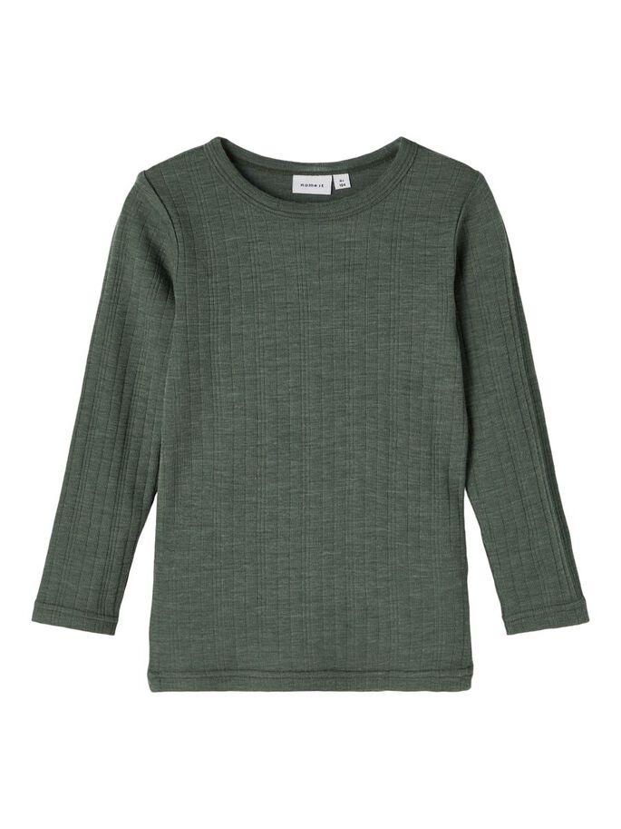Wang Wool LS Top, Mini - Duck Green