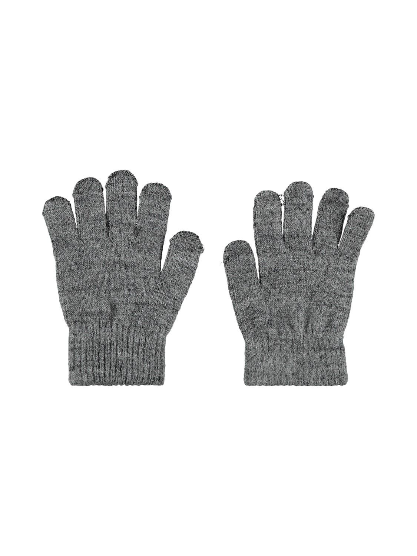 Wholla Wool Gloves (Str.1-5år) - Dk Grey Mel