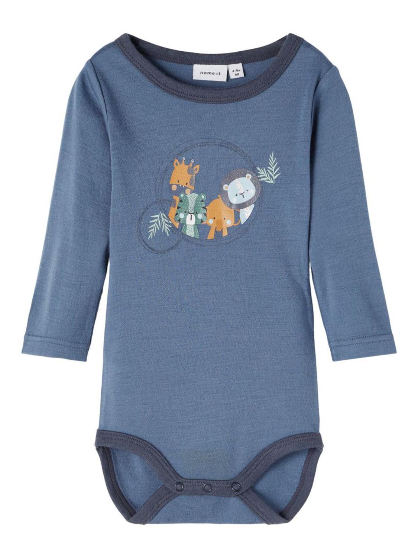 Willit Wool LS Body Baby - China Blue