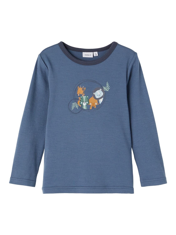 Willit Wool LS Top - China Blue