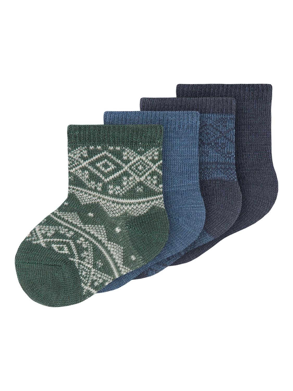 Wak Wool 4pk Sock, Baby - Ombre Blue