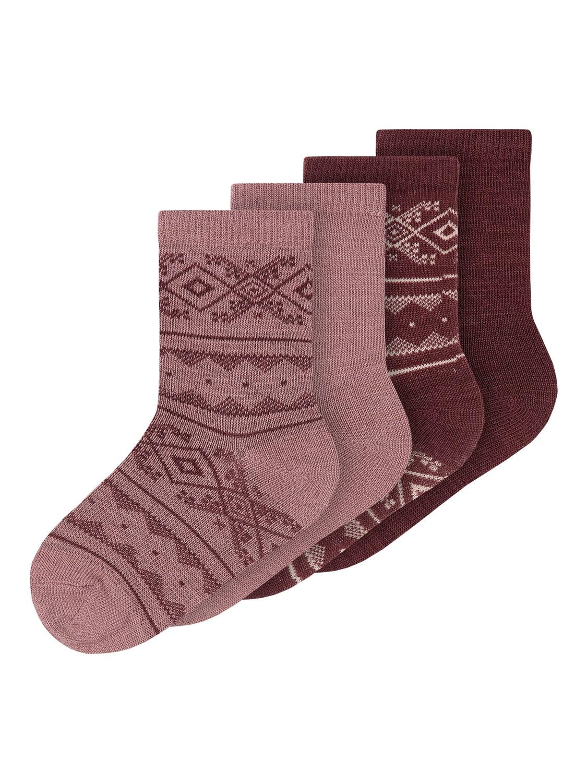 Wak Wool 4pk Sock, Mini - Nostalgia Rose