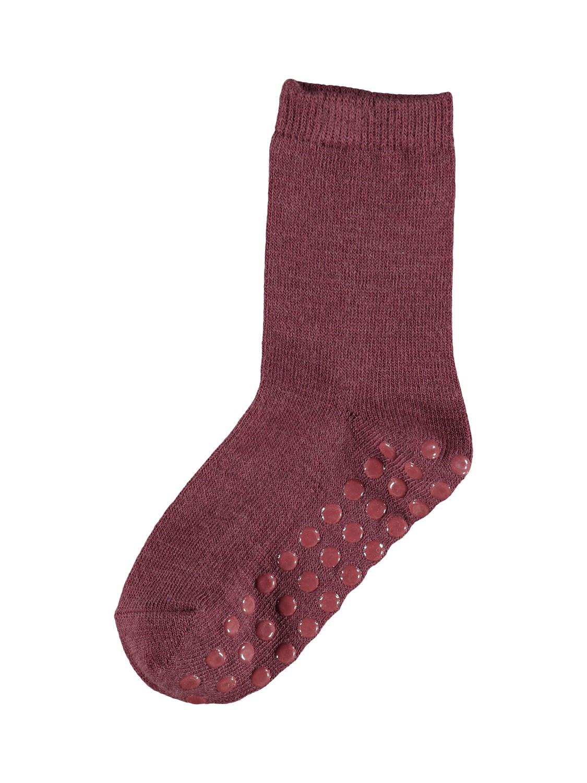 Wak Wool 2pk Sock w/Non Skid - Red Mahogany