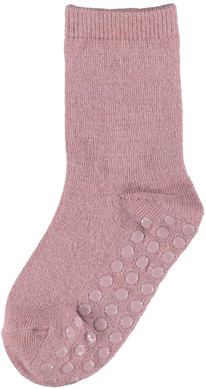 Wak Wool 2pk Sock w/Non Skid - Nostalgia Rose